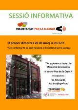 Sessió informativa del Voluntariat per la llengua