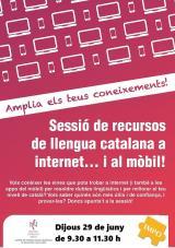 Sessió sobre recursos de llengua catalana a internet i al mòbil -a IMPO-Can Boscà