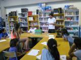 Taller d'enigmes amb Jordi Esteban a la Biblioteca Les Aigües, de Cardedeu, per cloure el joc de l'Endevina-la!