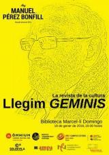 Homenatge a la revista 'GEMINIS' en el marc de l'Any Manuel Pérez Bonfill