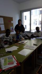 Una de les trobades del grup de lectura i conversa per a joves
