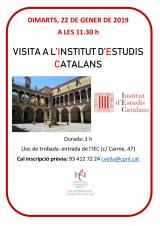 Visita a l'Institut d'Estudis Catalans