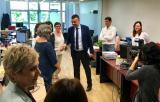 El conseller de Cultura, Santi Vila, ha visitat les instal·lacions de la nova seu del CPNL