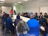 Un moment de la presentació al Casal Cívic d'Alcanar
