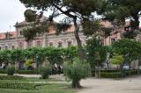 Els alumnes del CNL de Cornellà al vestíbul central del Parlament de Catalunya