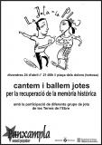 El voluntariat lingüístic de  Tortosa, a la ballada de jotes per a la memòria històrica