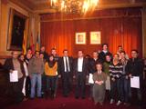 """Bernat Joan, secretari de Política Lingüística i president del CPNL, lliura els diplomes  """"Tastets de llengua"""""""