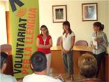"""Cloenda de la primera edició del """"Voluntariat per la llengua"""" a Canyelles"""