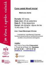 Curs de català Inicial a Arnes en el marc de les accions del Servei de Primera Acollida de la Terra Alta