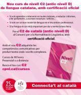 Cursos de català de nivell inicial i de nivell superior (C2) a la Sénia