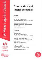 Nous cursos de català inicial a Jesús i Tortosa