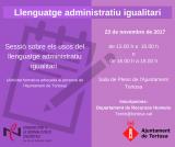 Sessions de llenguatge administratiu igualitari a la Terra Alta  i a Tortosa