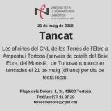 21 de maig, festa local a Amposta i Tortosa