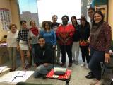 La classe de l'Elemental 3 rep la visita de la Colla de Diables de Sant Andreu de la Barca