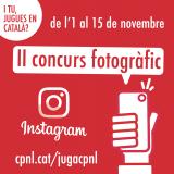 """II Concurs fotogràfic """"I tu, jugues en català?"""". Participa-hi!"""