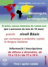 Cursos intensius de català de nivell Bàsic, durant el mes de juliol, a Sant Feliu de Llobregat