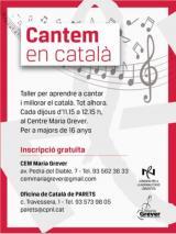 Torna el taller 'Cantem en català' al Centre d'Estudis Musicals María Grever de Parets del Vallès