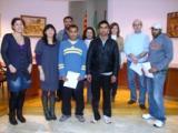 Acte de cloenda de dos cursos de català Inicial i Bàsic 1 a Sant Jaume d'Enveja