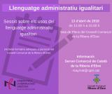 Sessió sobre llenguatge administratiu igualitari per al personal del Consell Comarcal de la Ribera d'Ebre