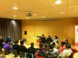 Tertúlia del mes de febrer del Club de Lectura Fàcil de Tortosa sobre el llibre 'Els castellers'