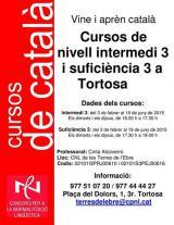Millora el teu currículum: nous cursos presencials de català dels nivells intermedi i de suficiència a Tortosa