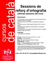Últimes sessions de reforç d'ortografia del curs 2013-2014